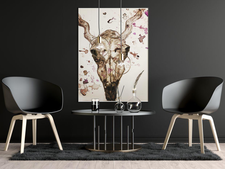 Antilope skull painting