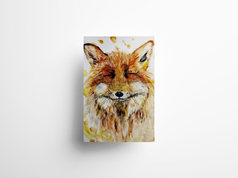 Happy fox poster