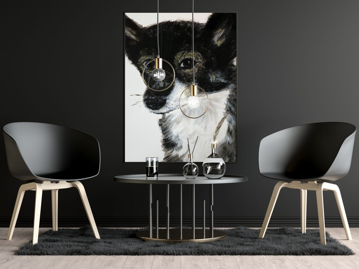 Doggy portrait poster